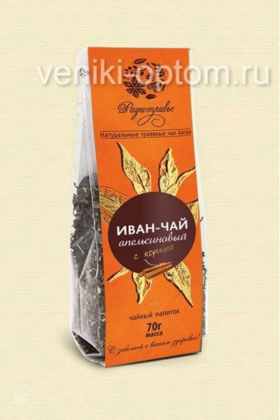 Чайный напиток Иван чай «Апельсиновый с корицей» 70гр.
