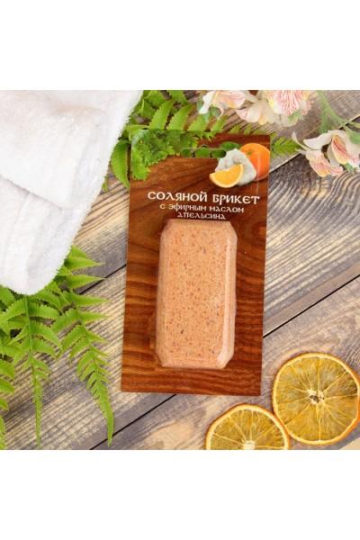 Соляной брикет с эфирным маслом Апельсина