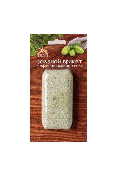 Соляной брикет с эфирным маслом Хмели