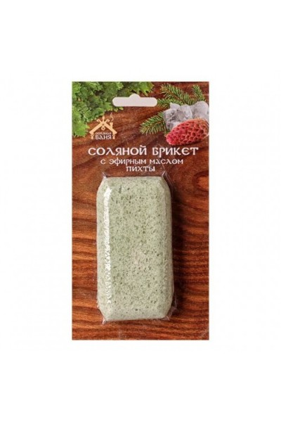 Соляной брикет с эфирным маслом Пихты