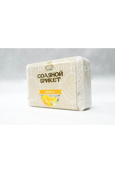 Соляной брикет с алтайскими травами и с цедрой Апельсина