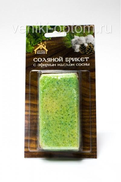 Соляной брикет с эфирным маслом Сосны